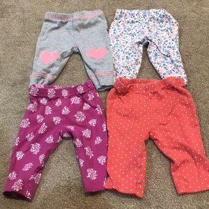 Carter's Baby Girl Pants Bundle sz 3m